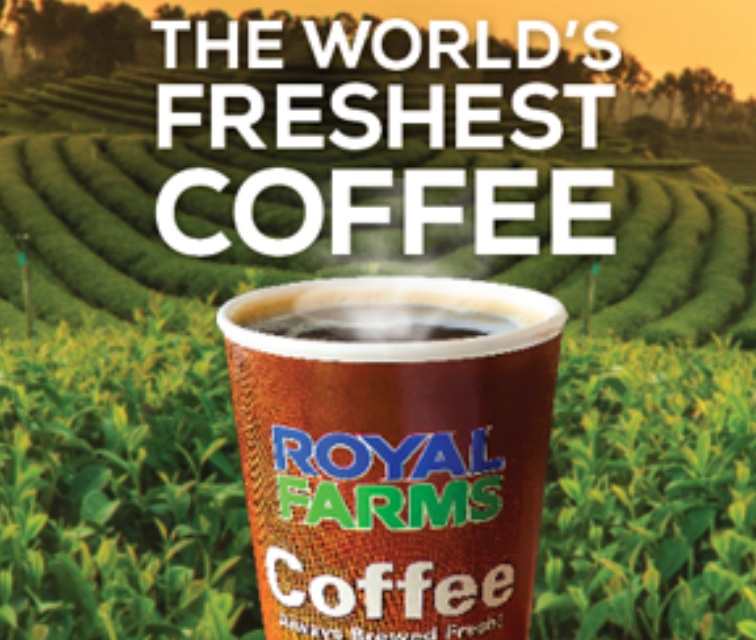 World's Freshest Coffee at Royal Farms