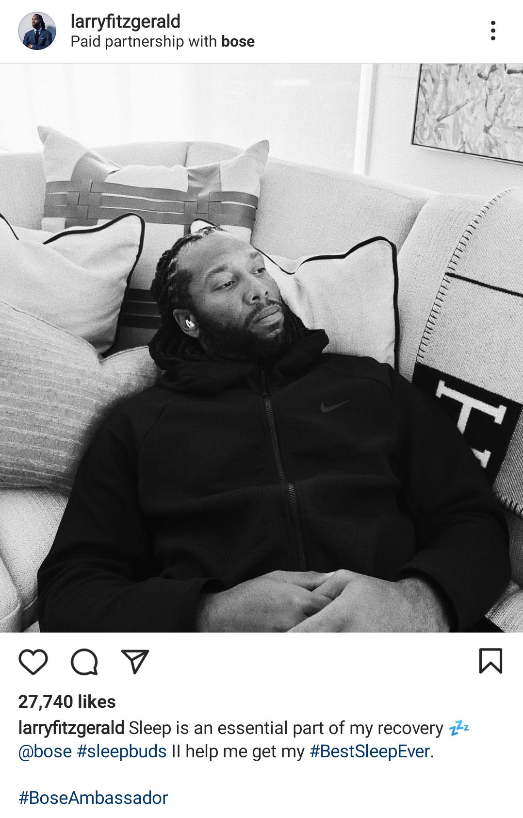 Bose Larry Fitzgerald Instagram